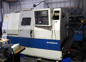 Daewoo Puma 200C CNC Turning Center With Turbo Chip Conveyor, Tailstock, And Touch Setter, Serial Number PM200274, SEE VIDEO