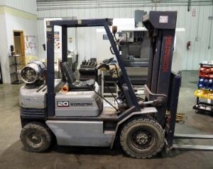 1998 Komatsu Forklift, Model FG20C, Serial Number 460561A, Capacity 4,000 Pound Lift, Hours Showing 5,276