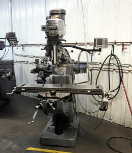 Bridgeport X Axis Milling Machine With Acu-Rite Digital Readout And Dynamo Power Feed