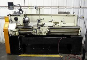 "LeBlond-Makino Regal Servo-Shift Engine Lathe With 4 Jaw Chuck And 3 Jaw Chuck, Steady Rest, Tailstock, Newall Digital Readout, 15"" x 54 , 2.27"" Bore"
