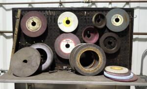 Grinding Wheel Assortment, Various Types And Sizes, Contents Of Shelf