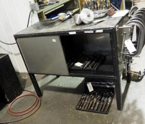 "Metal Workbench With Storage, 38"" x 48"" x 24"", Contents Not Included"