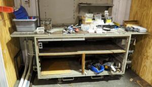 "Goodman Ball Electronic Test Bench, Model F-4C, 40"" x 96"" x 36"", Contents Not Included, Bidder Responsible For Proper Removal"