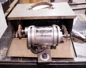 Electric Lathe Grinder With Themac Motor, Includes Grinding Discs And Carrying Case
