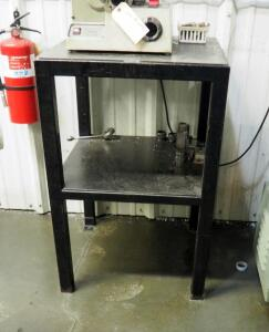 "Metal Shop Table With Shelf, 37"" x 24"" x 24"", Contents Not Included"