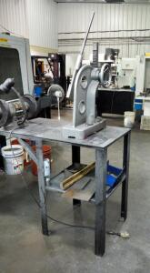 Manual Arbor Press With Metal Shop Table