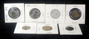 1979 Susan B Anthony Dollars Qty 2, Foreign Coins (Italy, Germany & Panama) Qty 4 And More