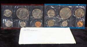 Two Sets Of 1976 Uncirculated Coins From The U.S. Mint, Each Set Includes Silver Dollar, Half Dollar, Quarter, Dime, Nickel And Penny, Each Set Sealed