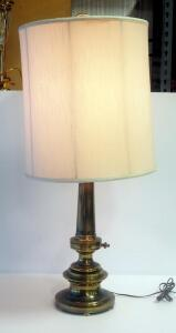 "34"" Vintage Brass Table Lamp, Powers On"