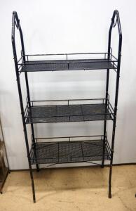 "Metal 3-Shelf Rack, 52"" High x 24"" Wide x 11"" Deep"