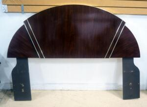 "Full Size Headboard With Semi Circular Top (44.5"" High), Matches Lot 47"