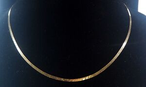 "14k Gold Silmar Joyeria Necklace, 18"" Long, 5.1g Total Weight"