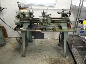 "Logan Model 200 Metal Lathe With Stand - 52"" x 54"" x 32"", Powers On"