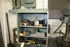 Millwright Tooling Including R8 Collets, Chucks, Bits, Stamps, Hand Tools, Oil Cans, And More; Includes Metal Cabinet