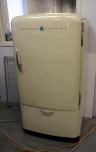 "Vintage General Electric Refrigerator - 59"" x 31"" x 28"", Unknown Working Condition"
