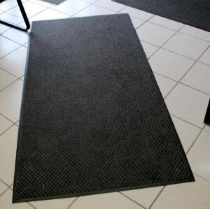 Rubber Backed Floor Mats, Qty 3, Approximately 2' x 3', 3' x 6', 3' x 4'