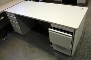 "Hon 5 Drawer Metal Framed Desk - 29.5"" x 72"" x 30"""