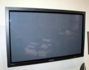 "Samsung DNIE 42"" Commercial Monitor, Model PPM42M6HBX/XAA, With Remote And Wall Mount; Bidder Responsible For Proper Removal"