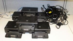 HP Advanced Docking Stations, Model HSTNN-I10X, Qty 6, Including Power Supplies