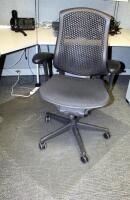 "Herman Miller Fully Adjustable Rolling Desk Chair, Model CJ123AAFC, 29.5"" W x 15.5"" D x 43.5"" H; And 45"" x 52"" Chair Mat"