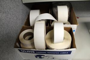 Adhesive Thermal Transfer Labels, Various Sizes, Contents Of 3 Boxes