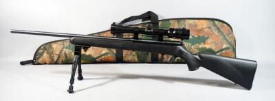 Savage Model 93R17 .17 HMR Bolt Action Rifle SN# 1184575, With Bipod, Simmons 3-9x 32 Scope Model 561039, In Soft Case