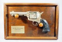 Franklin Mint Bat Masterson Forty-Five Revolver Replica With COA, In Display Frame, This Is A Non-Firing Replica But Has The Heft Of An Actual Firearm