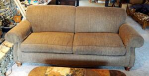 "Upholstered Sofa With Rolled Arms And Nailhead Trim, 36"" x 86"" x 42"""