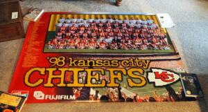 1998 Kansas City Chiefs Posters, Qty 3