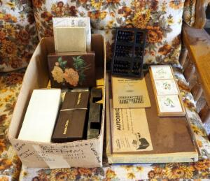 Vintage Autobridge Solitaire Contract Bridge Game Board, In Box, Deck Shufflers, Bridge Playing Cards, Scoring Pads, & More