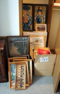 Lithograph Prints And Frame Assortment, Large Qty