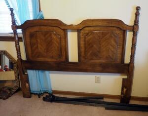 "Full Size Solid Wood Headboard With Hollywood Frame, 51.5"" x 60"", Matches Lot 77"
