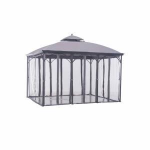 "Sunjoy Columbus 10 Ft x 12 Ft Gray Steel Soft Top Gazebo, New In Box, Photos Used Are Stock Photos Box Dimensions 88"" x 19"" x 9"""