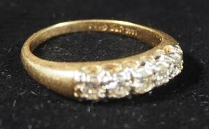 14k Gold Diamond Ring, Size 6-1/2, 3.1g Weight Including Stone