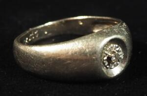 10k White Gold Diamond Ring, Size 8, 3.6g Weight Including Stone