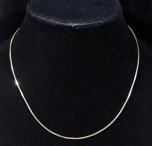 "14k Gold Necklace, 17"" Long, 3.7g"