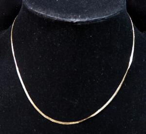 "14k Gold Necklace, 16"" Long, 1.8g"