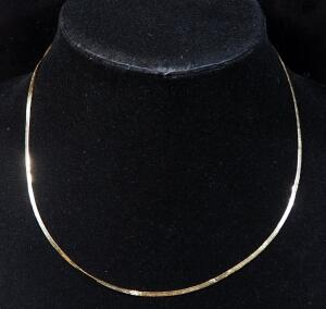 "14k Gold Necklace, 17"" Long, 2g"