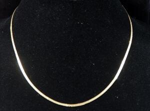 "14k Gold Necklace, 17.5"" Long, 3.7g"