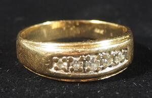 14k Gold Ring With Clear Stones, Size 10-1/2, 5.67g Including Stones