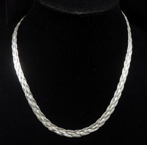 "Sterling Silver Necklace, 18"" Long, 17g Weight"