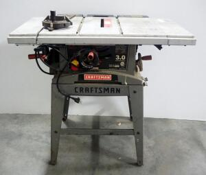 "Craftsman 10"" Table Saw Model 137.248840, On Stand, Powers On"