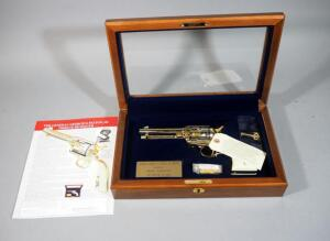 "America Remembers ""George S Patton Jr Tribute Revolver"" Colt Single Action Army .45 LC Revolver SN# U87771, #282 Of 500, Working Firearm Decorated With 24K Gold & Nickel, In Display Box, SEE DESCRIPTION"