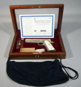 "America Remembers ""George S Patton Jr WWII 75th Anniversary Tribute Pistol"" Colt 1911 .45 ACP Pistol SN# CV43444 #124 Of 500, Working Firearm With COA, SEE DESCRIPTION"
