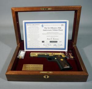 "America Remembers ""Tet Offensive 50th Anniversary Tribute Pistol"" Colt Government Model 1911 .45 ACP Pistol SN# 2934107, #36 Of 1000, Working Firearm With COA, SEE DESCRIPTION"