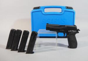 Sig Sauer P226 9mm PARA Pistol SN# U 673 092, With 5 Total Mags, In Original Hard Case