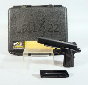 Browning Black Label 1911 22 .22 LR Pistol SN# 51EZV52169, With 2 Total Mags, In Original Hard Case