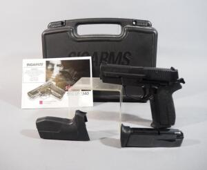 Sig Sauer SP 2340 .40 S&W Pistol SN# SP0008151, 2 Total Mags, Extra Grip And Paperwork, In Original Hard Case