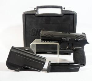 Sig Sauer P320 9 x 19mm Pistol SN# 58A126288, With 2 Total Mags And Holster, In Original Hard Case