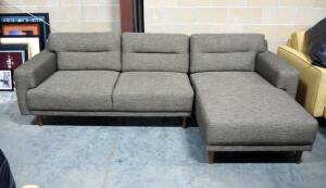 "EQ3 Remi 2-Piece Sectional Sofa With Chaise, Approx 30"" High x 100"" Long"
